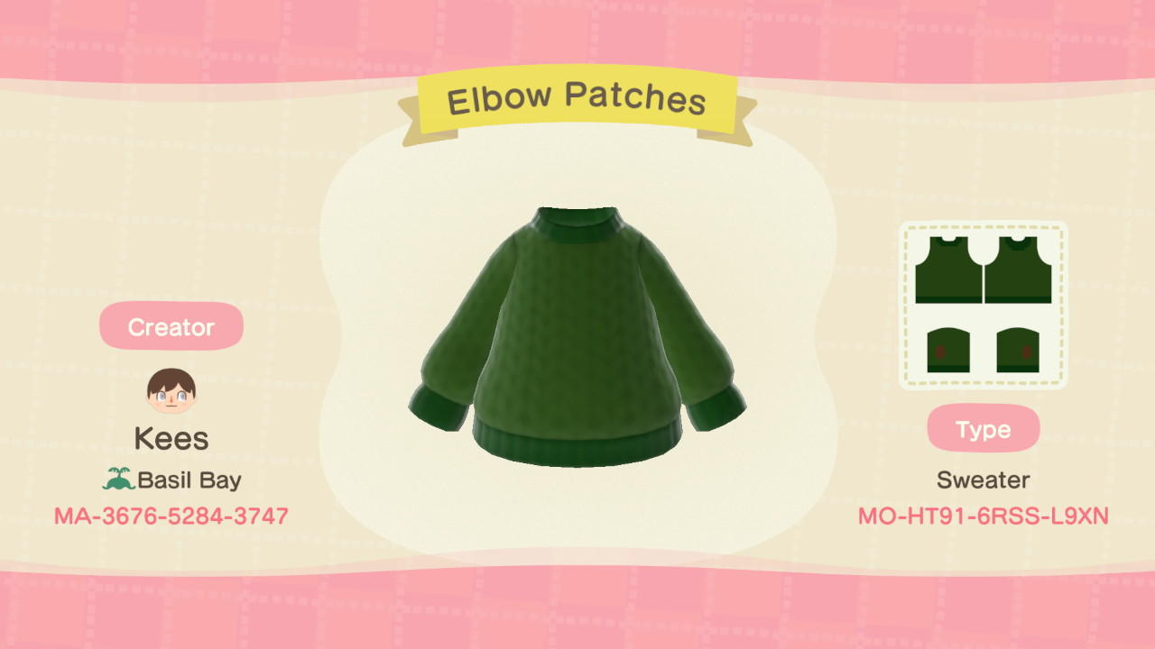 Elbow Patches - Animal Crossing: New Horizons Custom Design