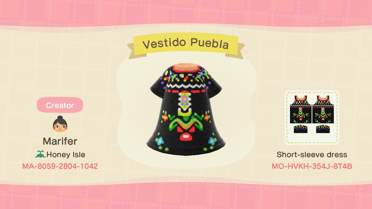 Mexican Puebla Dress - Animal Crossing: New Horizons Custom Design