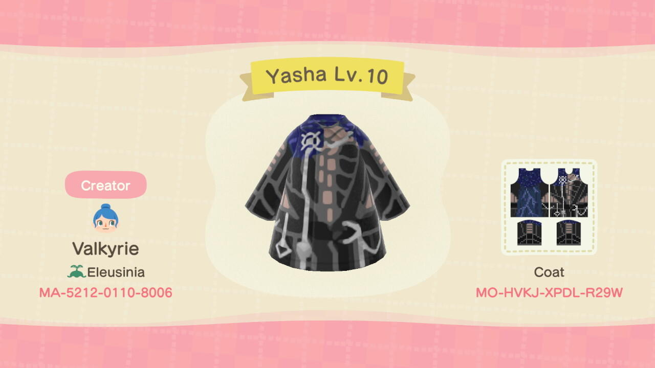 Yasha Lv.10 - Animal Crossing: New Horizons Custom Design