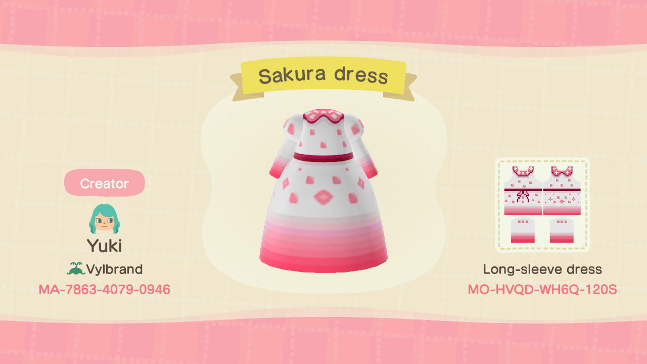 Sakura Dress - Animal Crossing: New Horizons Custom Design