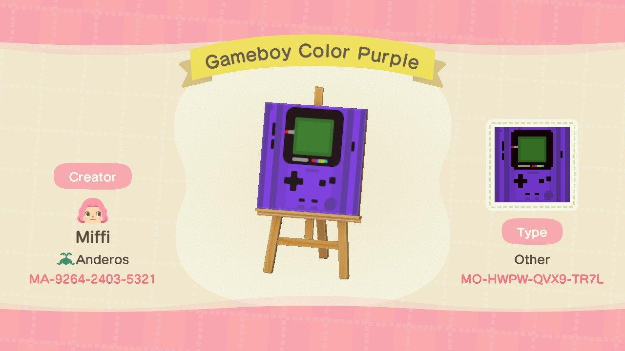 Gameboy Color Purple - Animal Crossing: New Horizons Custom Design