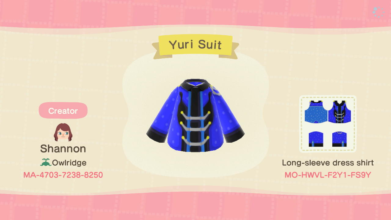 Yuri's Suit - Animal Crossing: New Horizons Custom Design