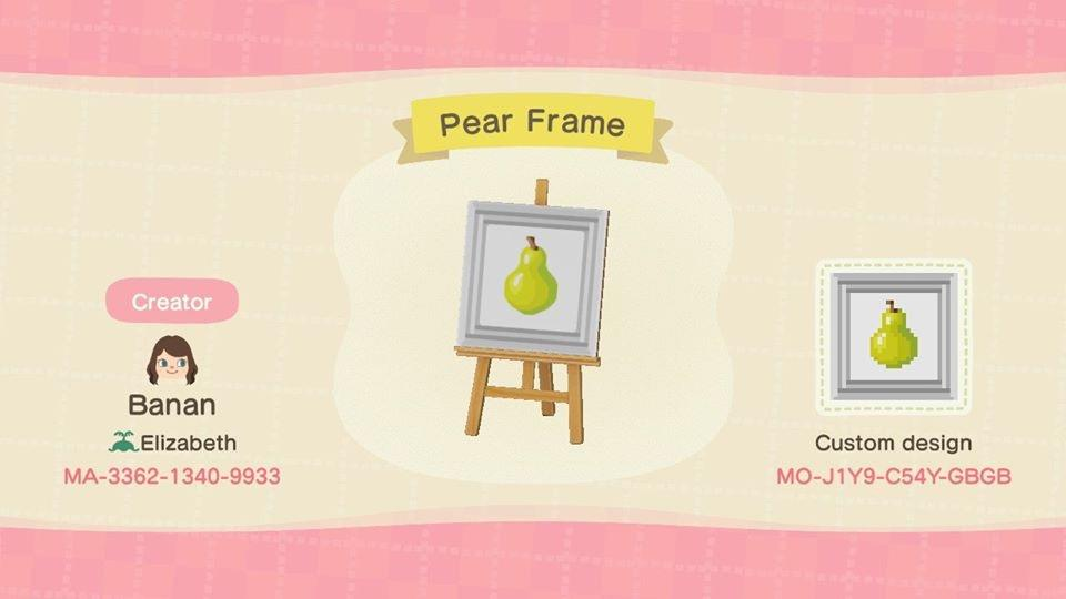 Pear Frame  - Animal Crossing: New Horizons Custom Design