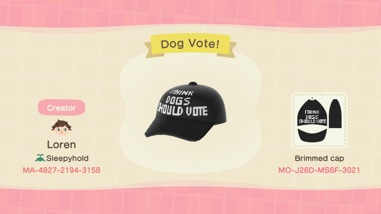 Dog Vote! - Animal Crossing: New Horizons Custom Design