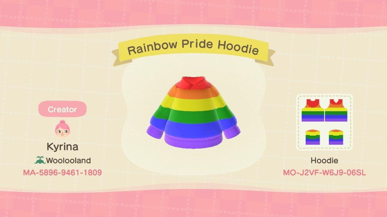 Rainbow Pride Hoodie - Animal Crossing: New Horizons Custom Design