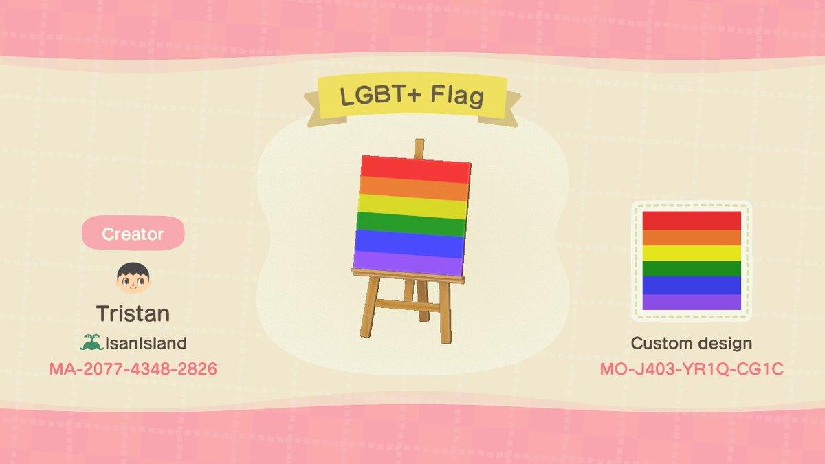 LGBT+ Flag - Animal Crossing: New Horizons Custom Design