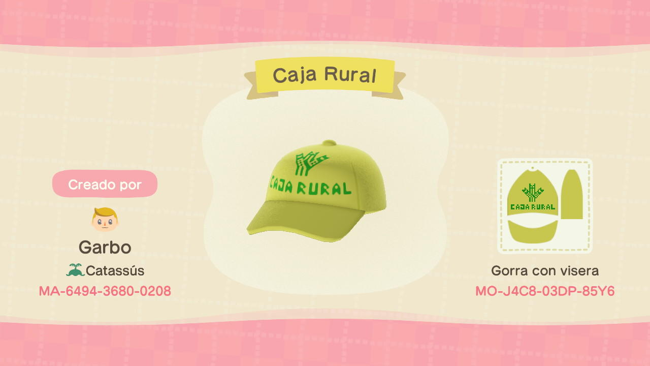 Imserso Caja Rural - Animal Crossing: New Horizons Custom Design