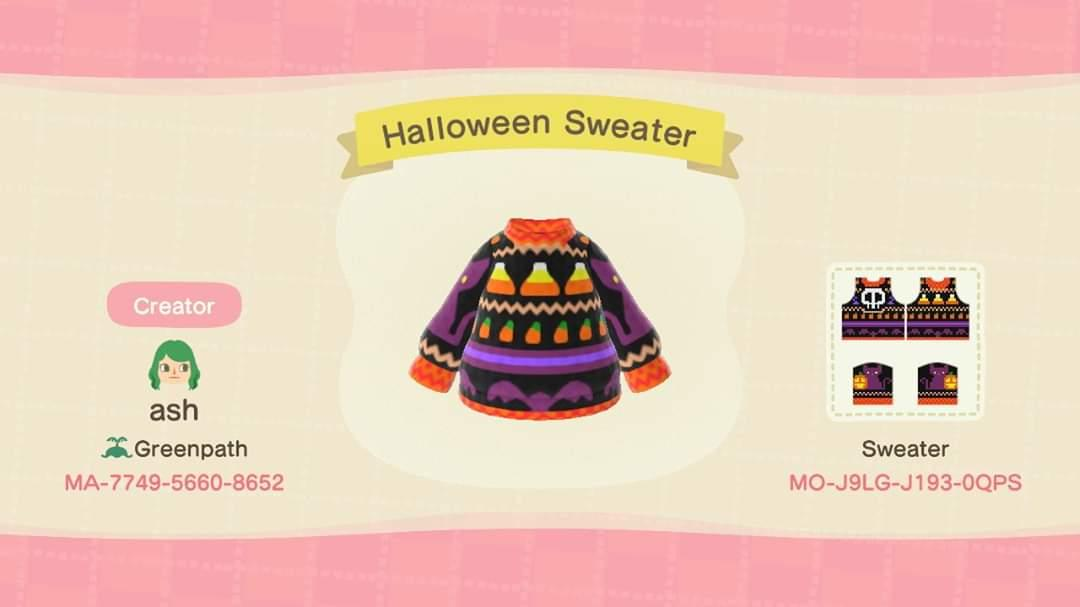 Halloween Sweater - Animal Crossing: New Horizons Custom Design
