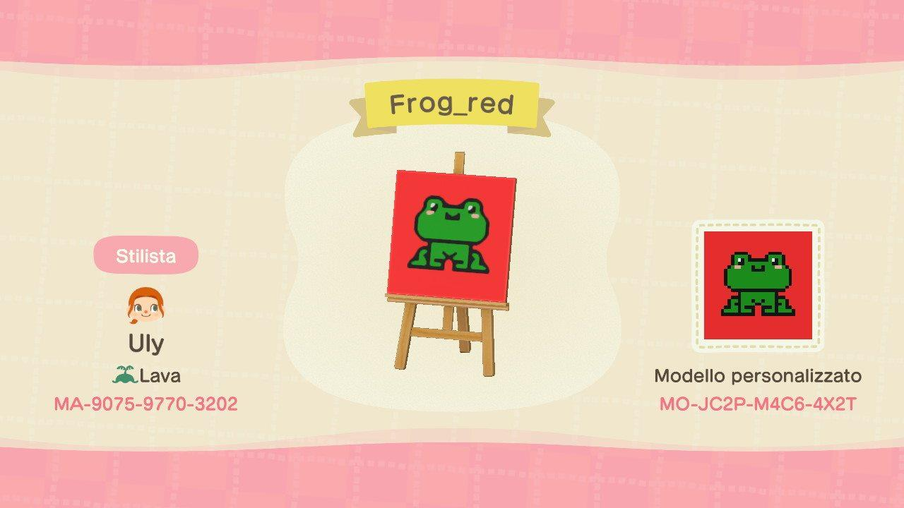 Red frog - Animal Crossing: New Horizons Custom Design