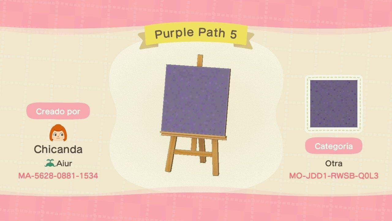 Purple Path 5 - Animal Crossing: New Horizons Custom Design