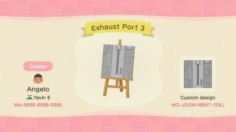 Exhaust Port 3 - Animal Crossing: New Horizons Custom Design