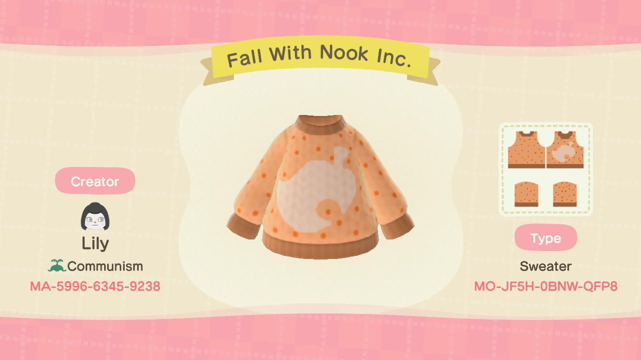 Fall With Nook Inc. - Animal Crossing: New Horizons Custom Design