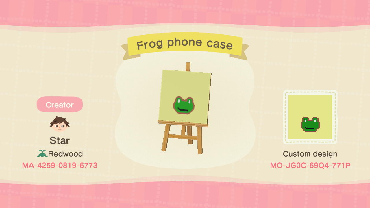Frog phone case - Animal Crossing: New Horizons Custom Design