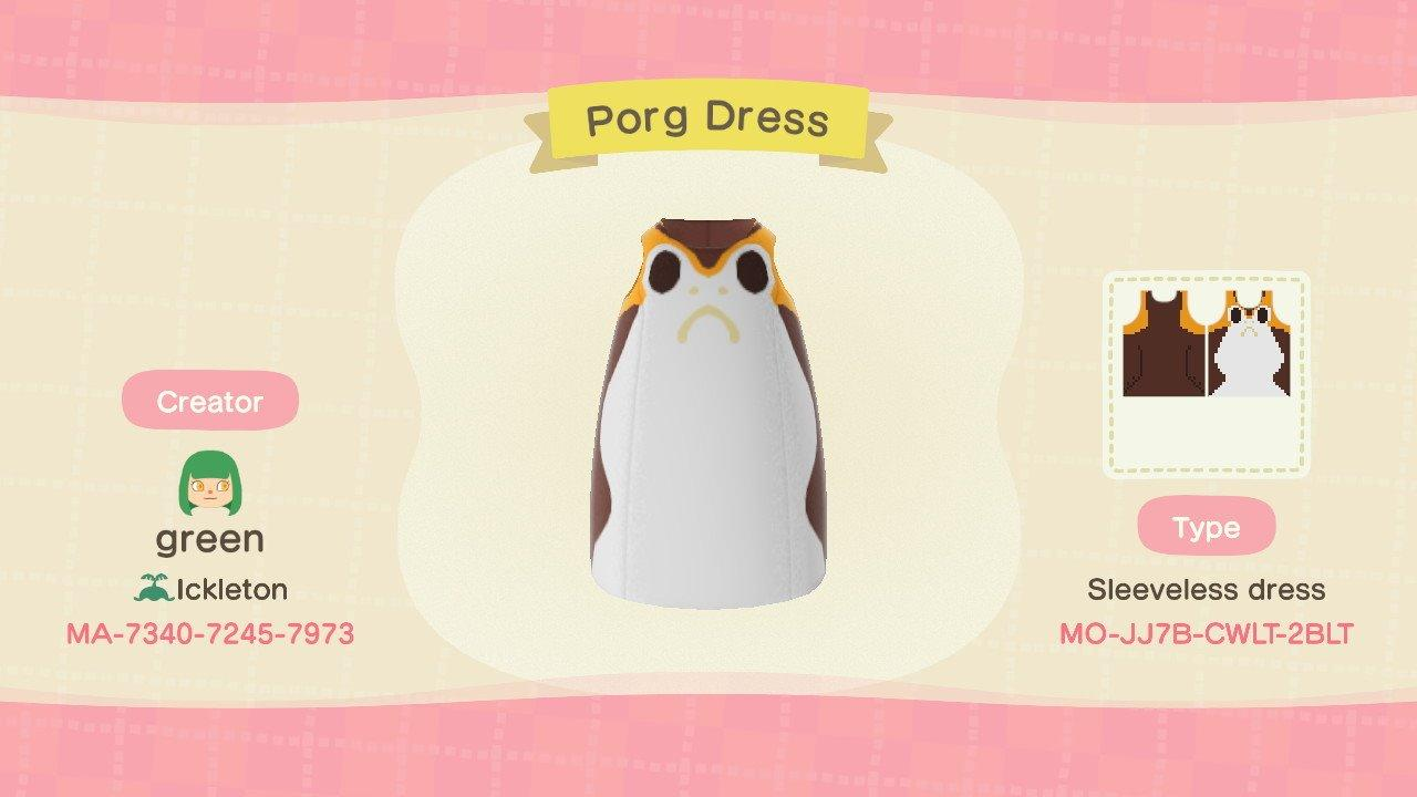 Porg Dress - Animal Crossing: New Horizons Custom Design