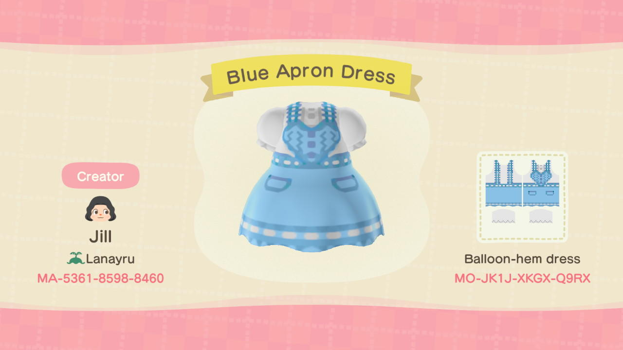 Blue Apron Dress - Animal Crossing: New Horizons Custom Design