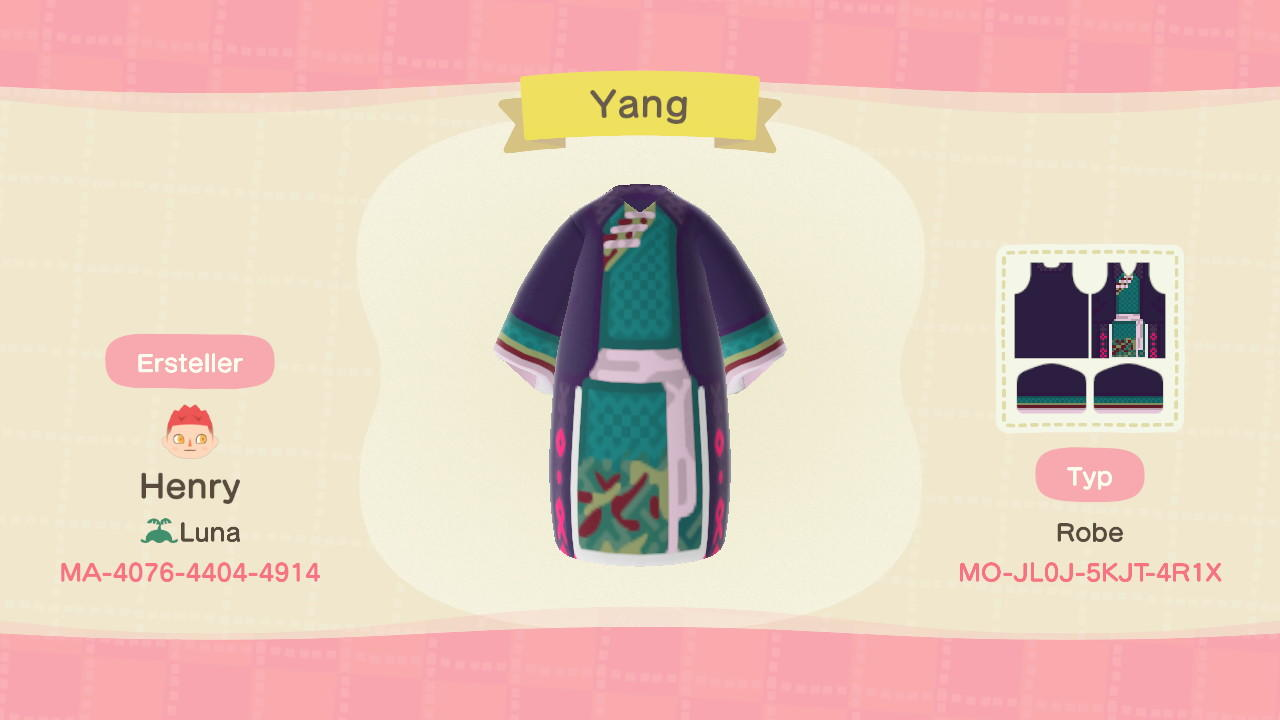 Yang - Animal Crossing: New Horizons Custom Design