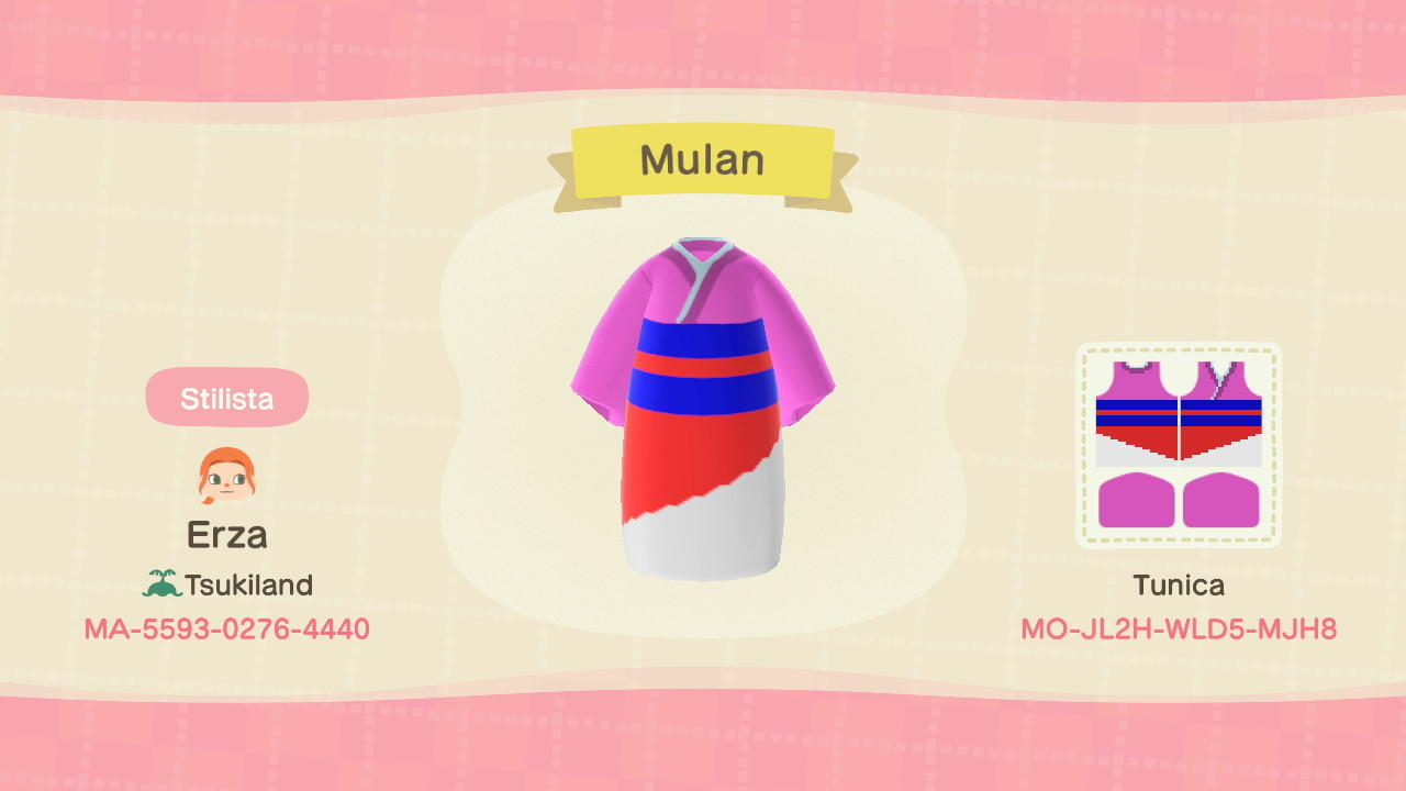 Mulan - Animal Crossing: New Horizons Custom Design