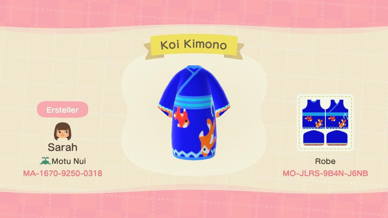 Koi Kimono - Animal Crossing: New Horizons Custom Design