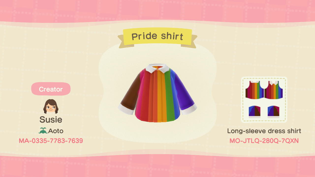 Pride Flag Shirt - Animal Crossing: New Horizons Custom Design