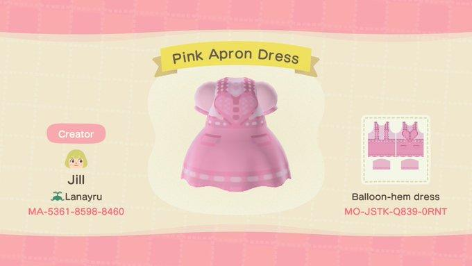 Pink Apron Dress - Animal Crossing: New Horizons Custom Design
