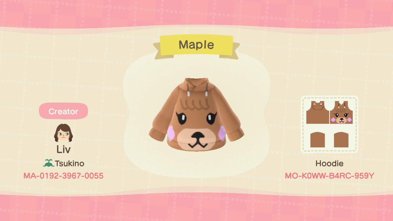 Maple Hoodie - Animal Crossing: New Horizons Custom Design