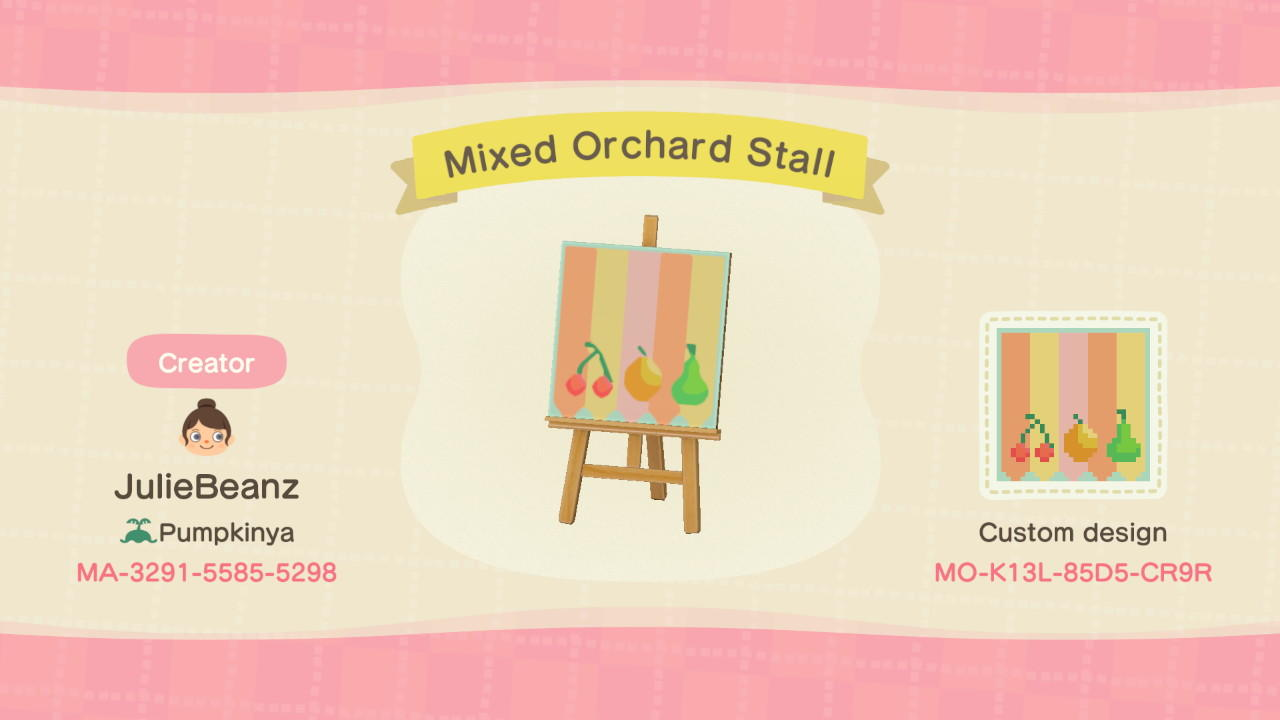 Mixed Orchard Stall - Animal Crossing: New Horizons Custom Design