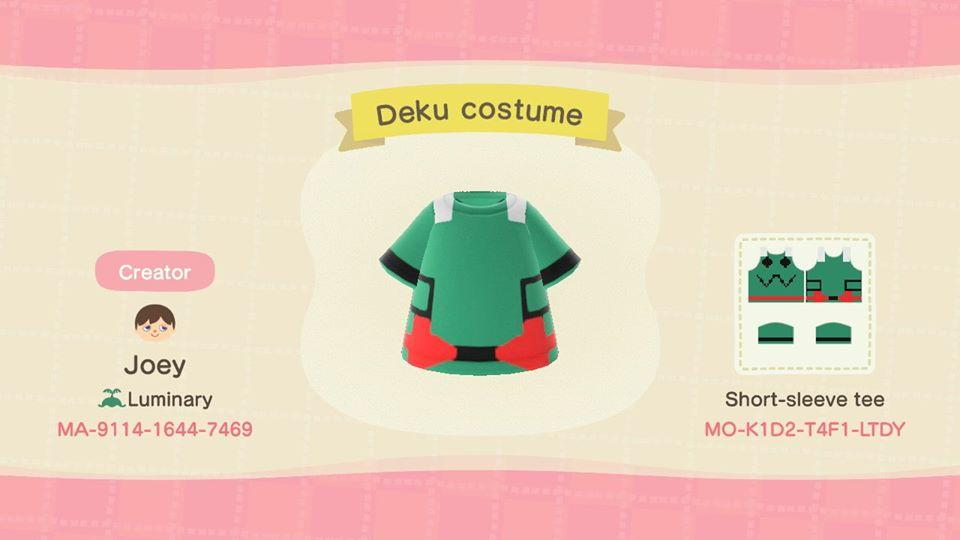 Deku Costume - Animal Crossing: New Horizons Custom Design