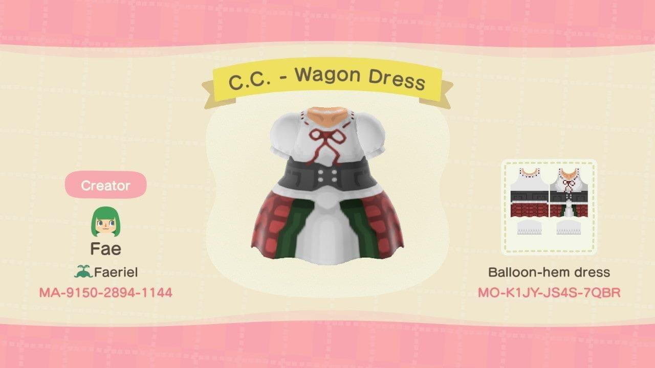 C.C. - Wagon Dress - Animal Crossing: New Horizons Custom Design