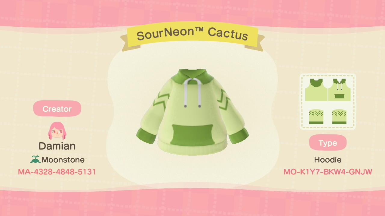 SourNeonTM Cactus - Animal Crossing: New Horizons Custom Design