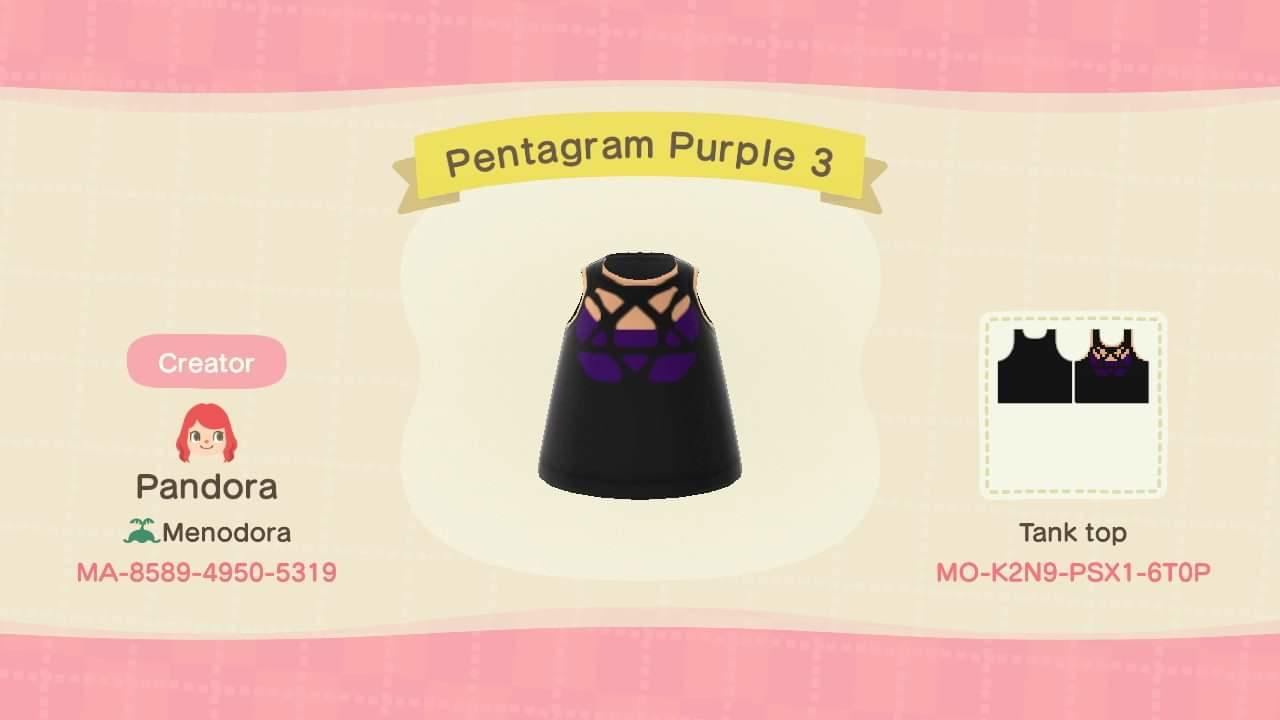 Pentagram Purple 3 - Animal Crossing: New Horizons Custom Design
