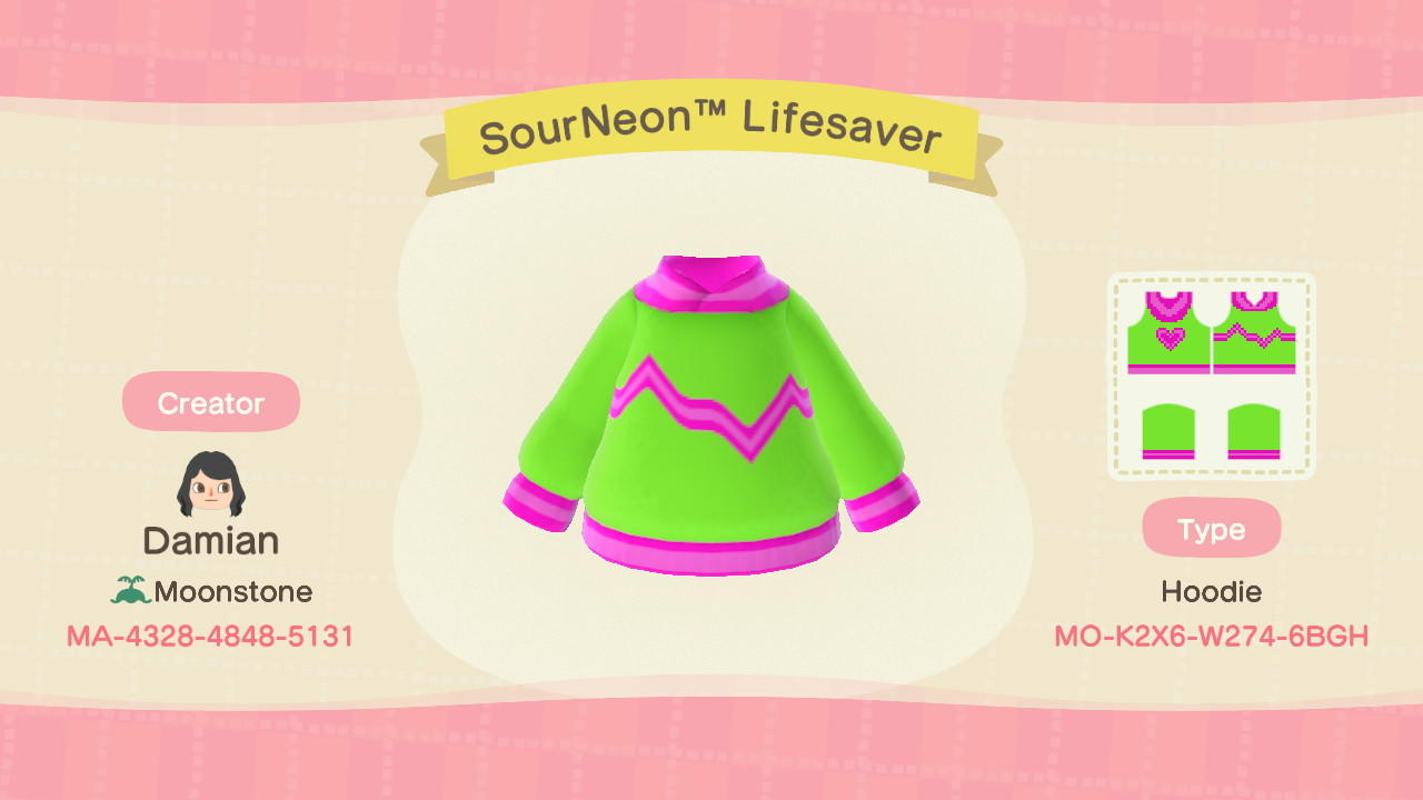 SourNeonTM Lifesaver - Animal Crossing: New Horizons Custom Design
