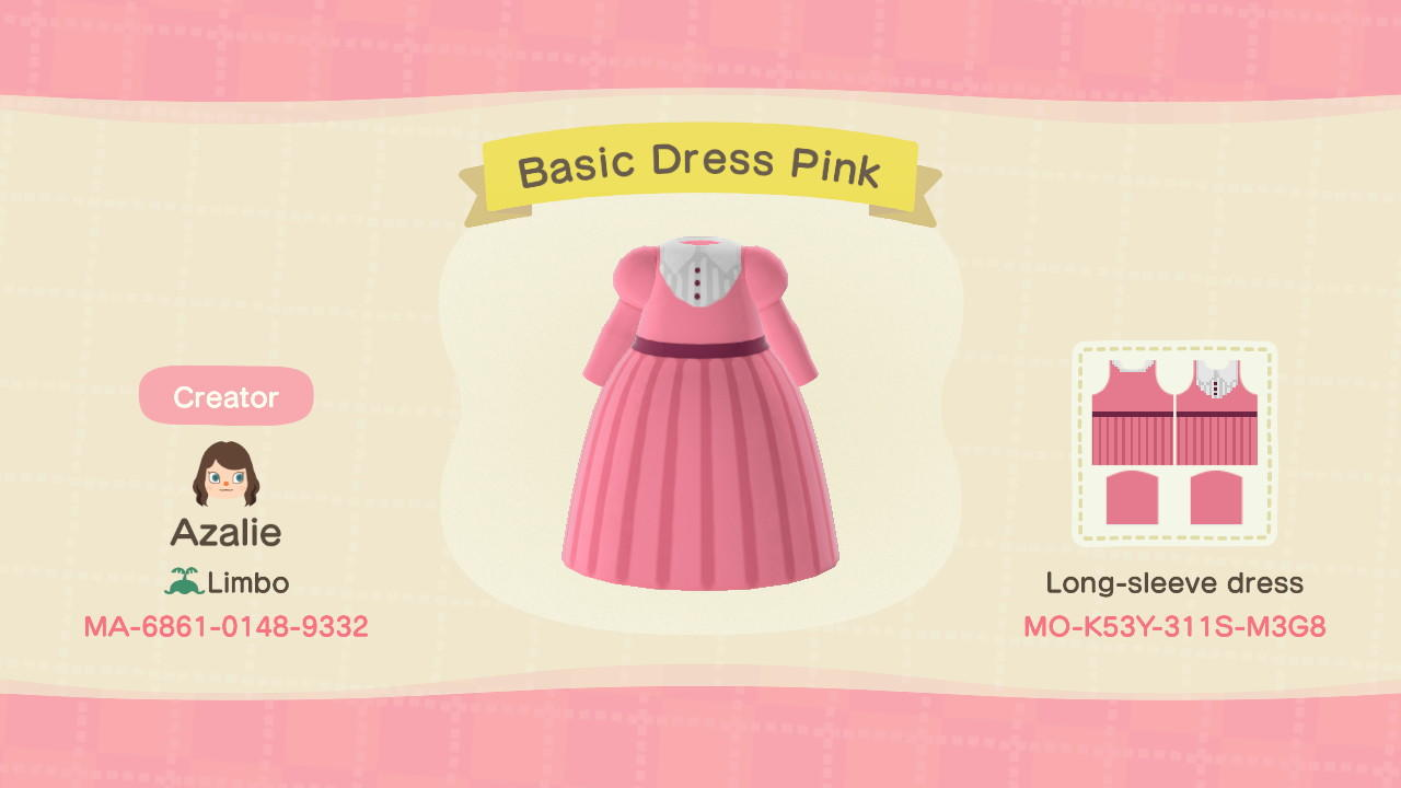 Basic Dress Pink - Animal Crossing: New Horizons Custom Design