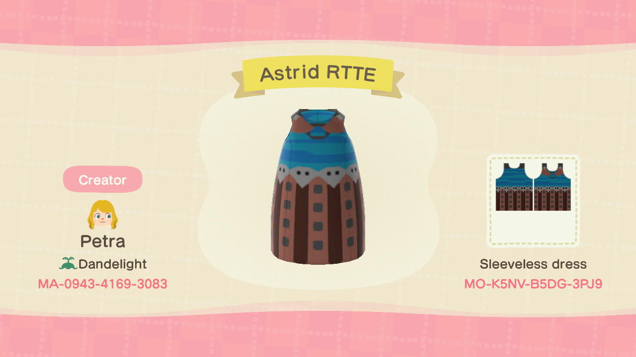 Astrid RTTE - Animal Crossing: New Horizons Custom Design