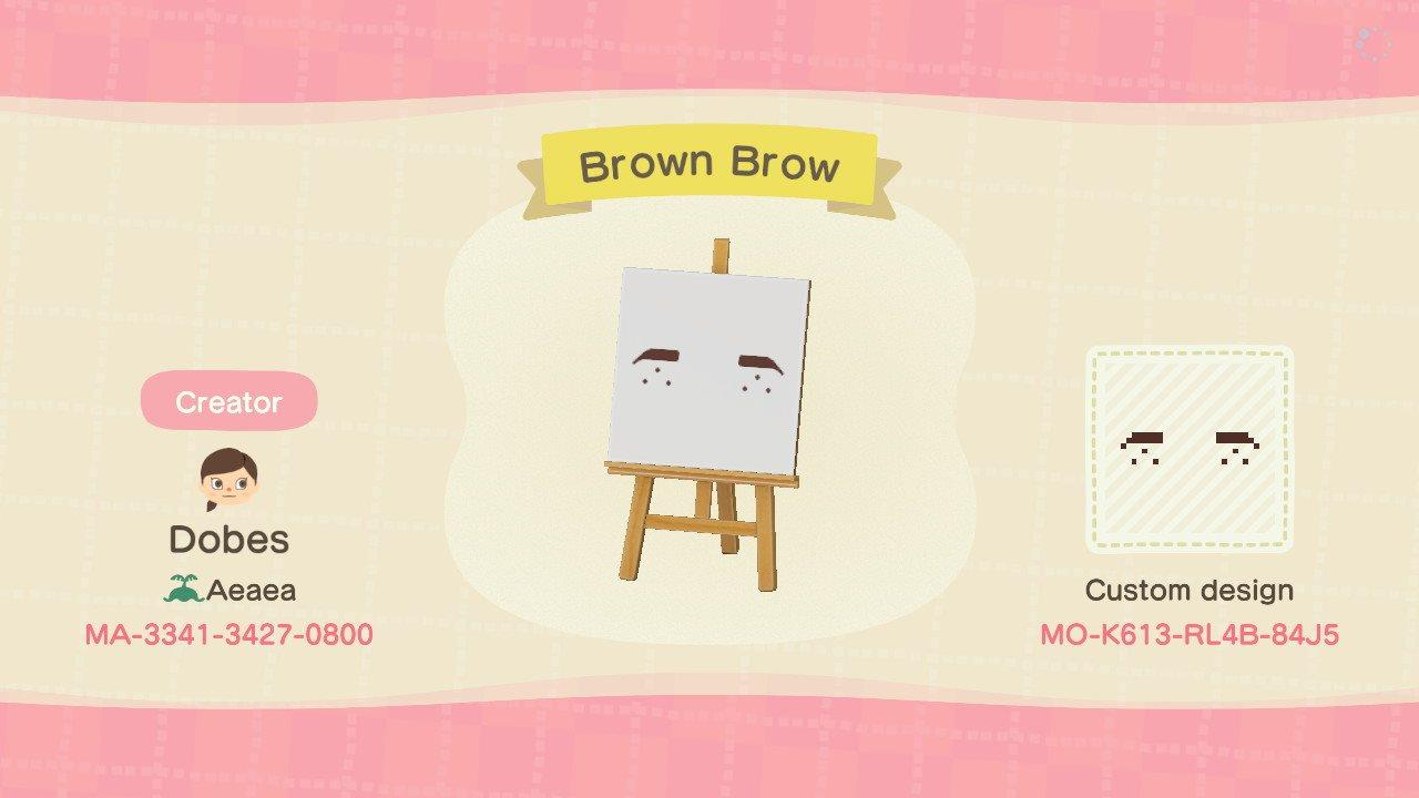 Brown Brow - Animal Crossing: New Horizons Custom Design