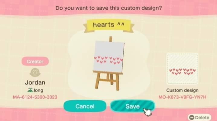 hearts ^^ - Animal Crossing: New Horizons Custom Design