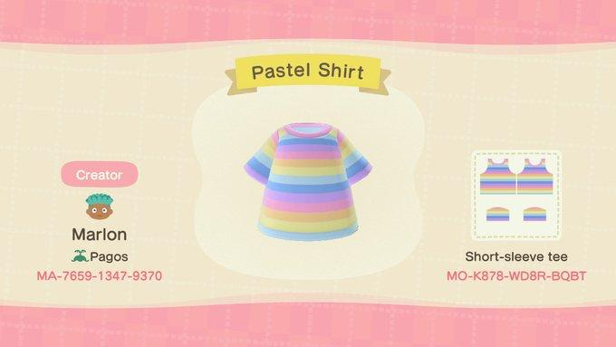 Rainbow Pastel Shirt - Animal Crossing: New Horizons Custom Design