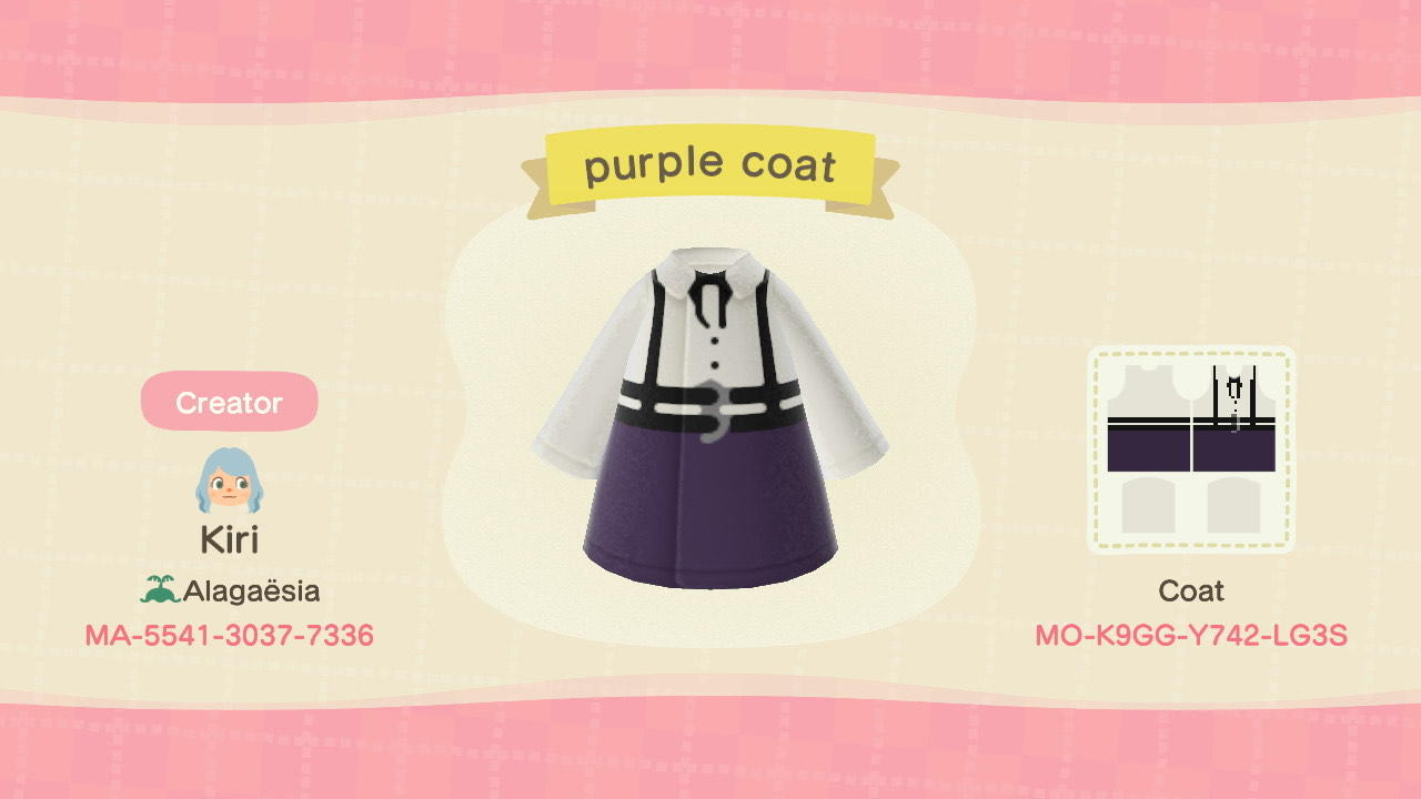 Purple skirt outfit - Animal Crossing: New Horizons Custom Design