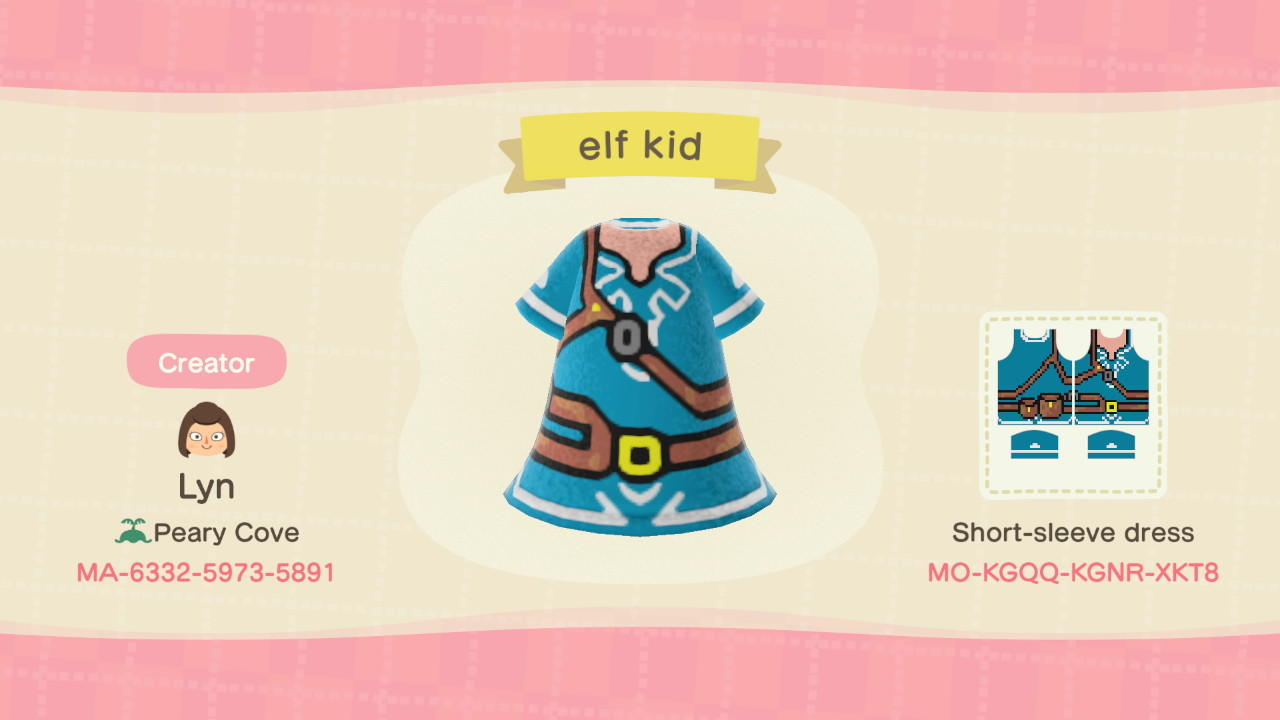 Elf kid - Animal Crossing: New Horizons Custom Design