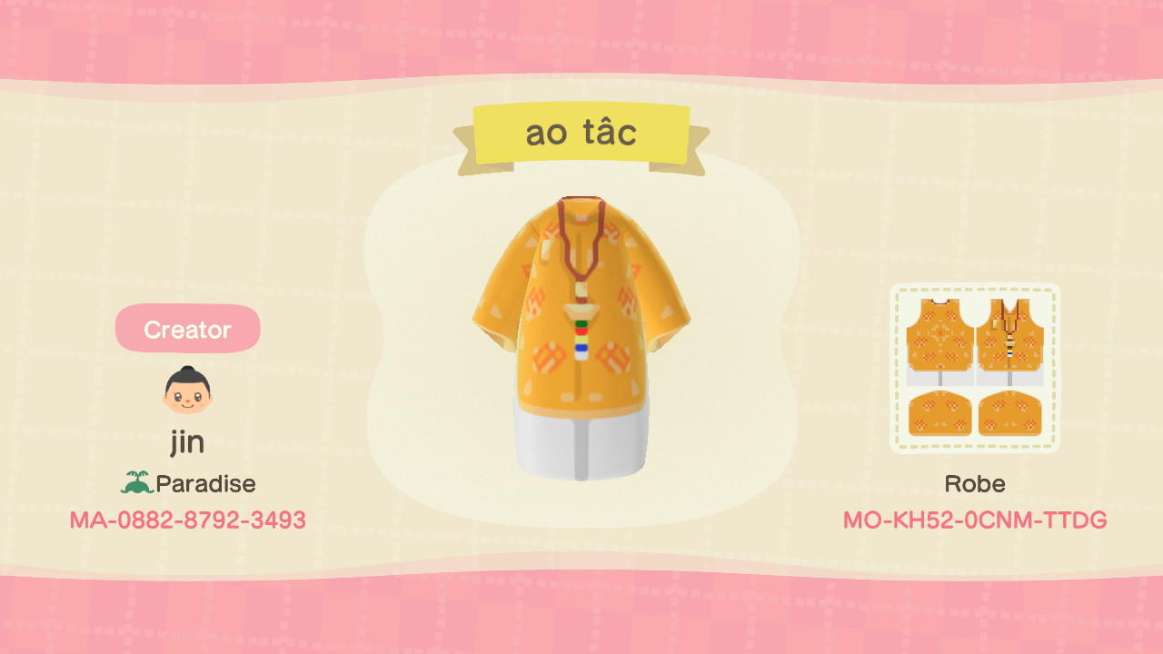 Ao dai - Animal Crossing: New Horizons Custom Design