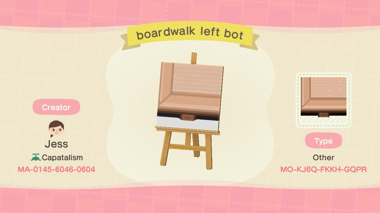 boardwalk left bot - Animal Crossing: New Horizons Custom Design