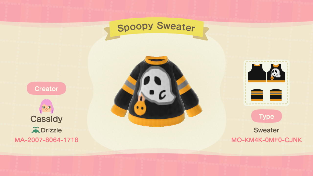 Spoopy Sweater - Animal Crossing: New Horizons Custom Design