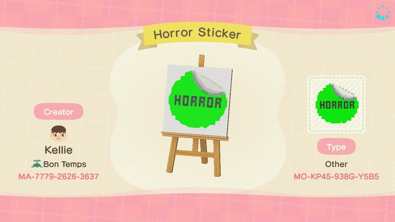 Horror VHS Sticker - Animal Crossing: New Horizons Custom Design