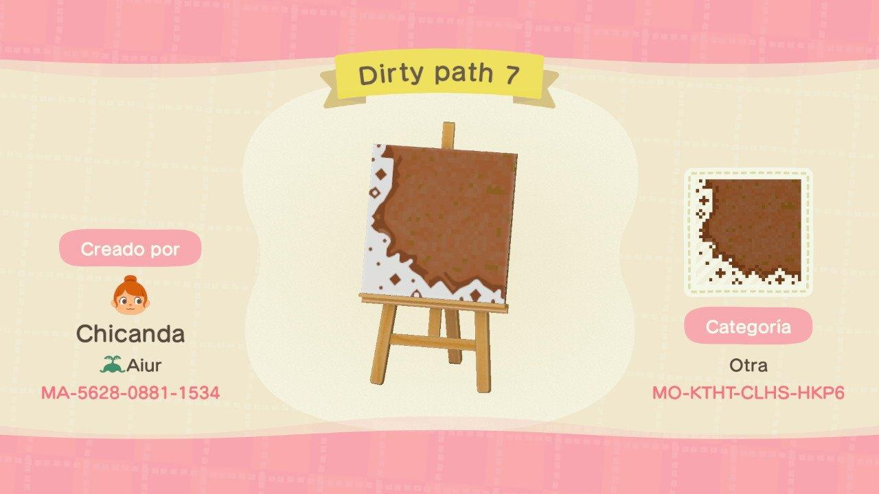 Dirty path 7 - Animal Crossing: New Horizons Custom Design