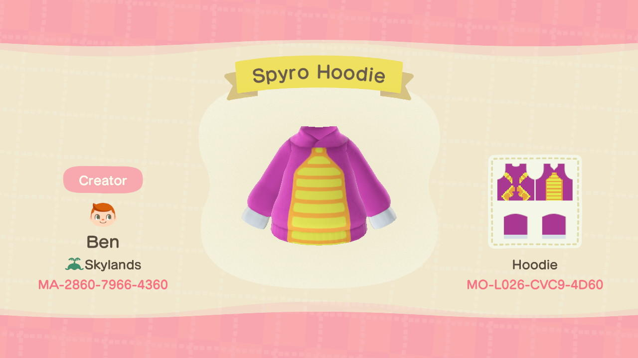 Spyro Hoodie - Animal Crossing: New Horizons Custom Design