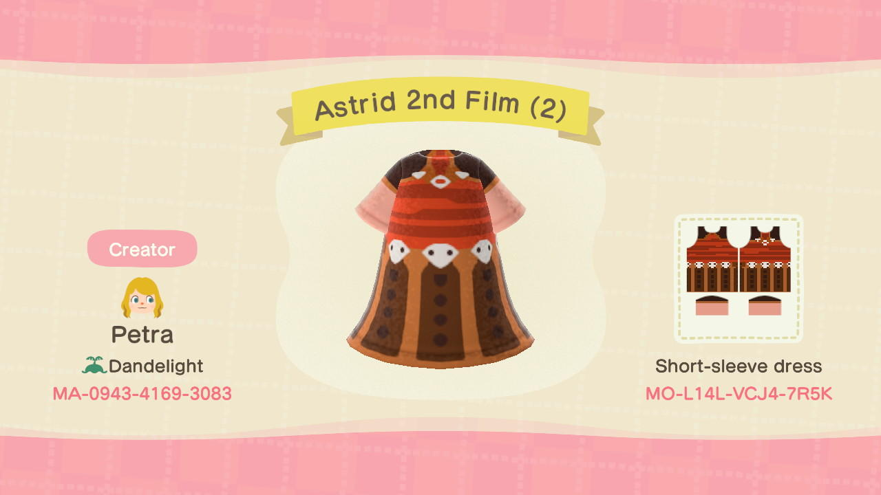 Astrid 2nd Film (2) - Animal Crossing: New Horizons Custom Design