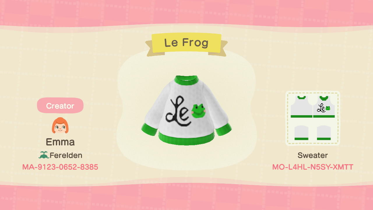 Le frog - Animal Crossing: New Horizons Custom Design