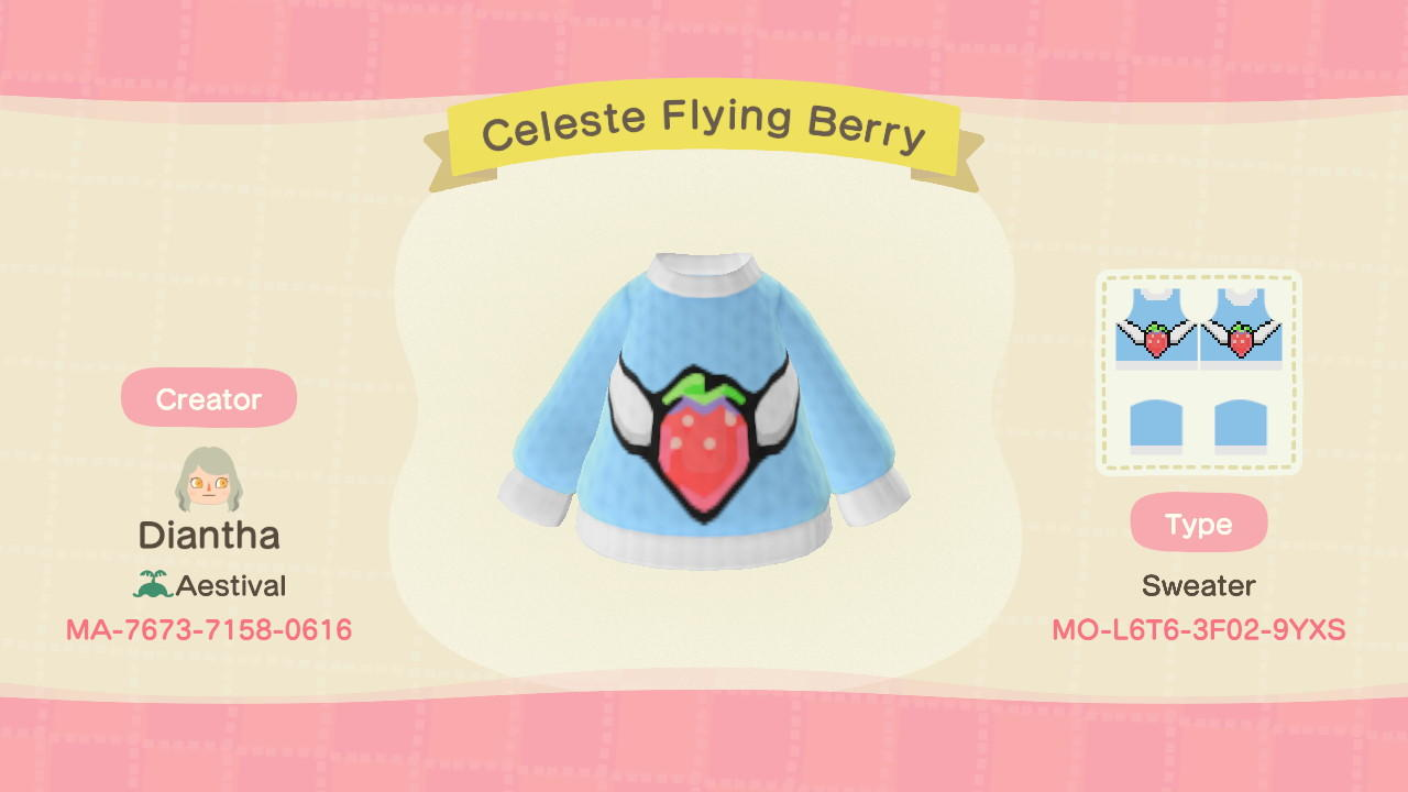 Celeste Flying Berry - Animal Crossing: New Horizons Custom Design
