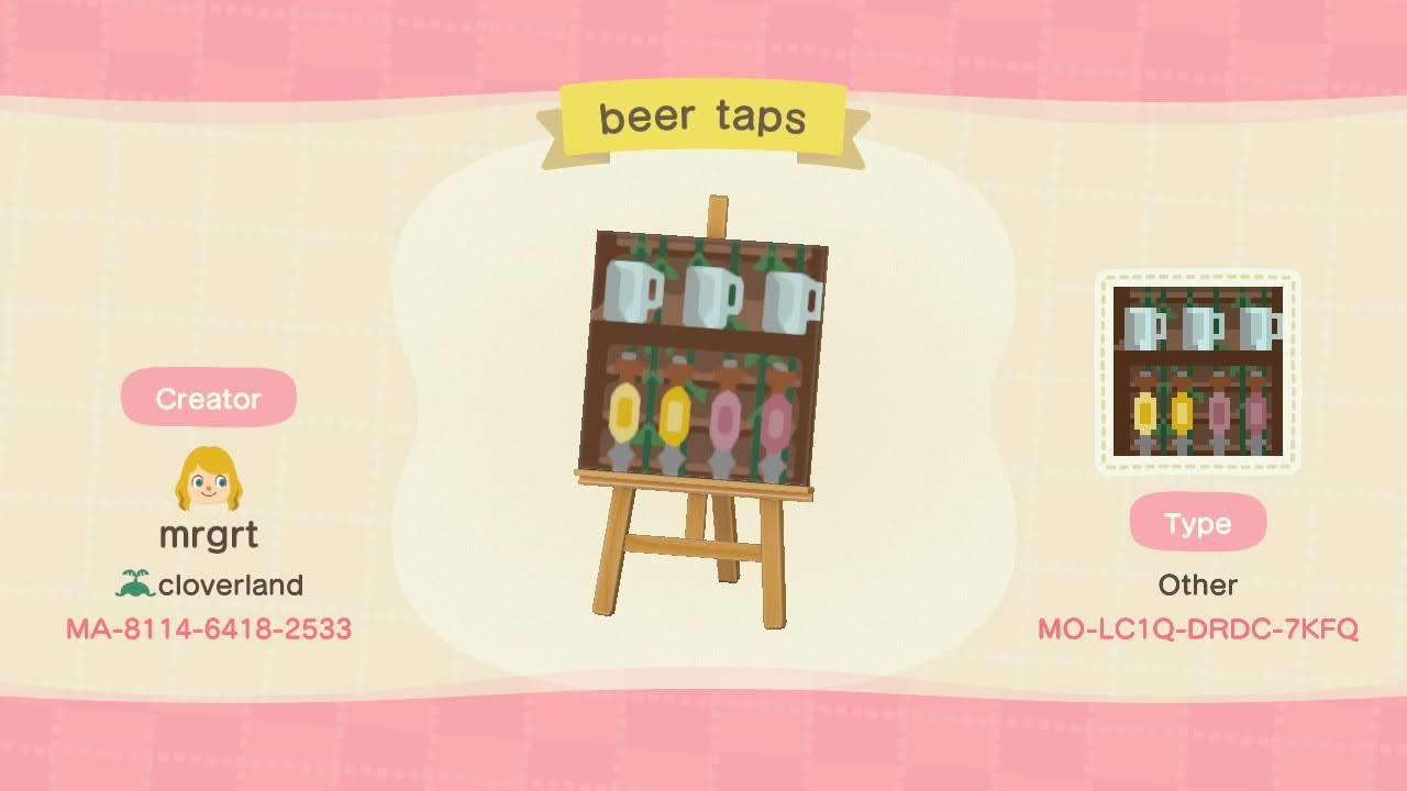 Beer Taps - Animal Crossing: New Horizons Custom Design