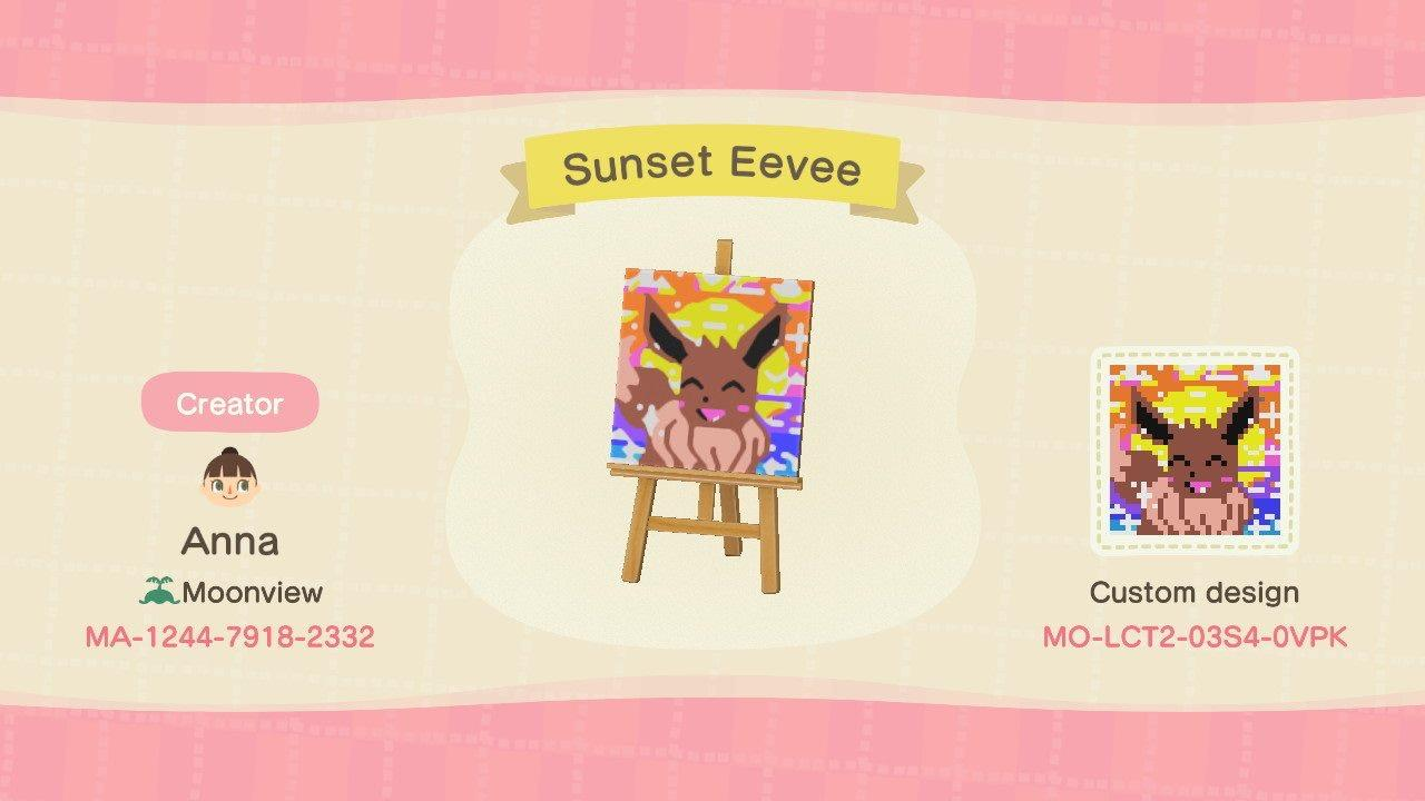 Sunset Eevee - Animal Crossing: New Horizons Custom Design