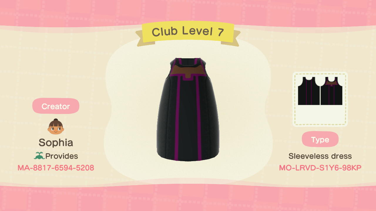 Club Level 7 - Animal Crossing: New Horizons Custom Design